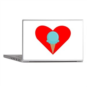 Blue Waffle Cone Heart Laptop Skins