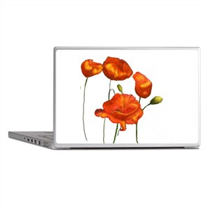 Poppies (orange) Laptop Skins