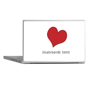 individual text, heart Laptop Skins