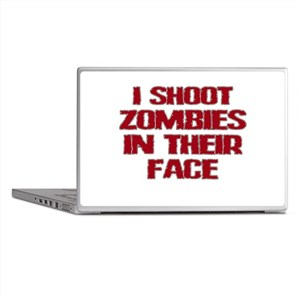 Shoot Zombies Laptop Skins