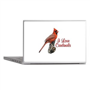 I Love Cardinals Laptop Skins