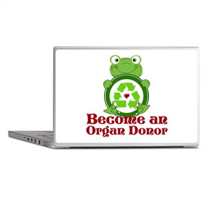 Organ donor recycle frog Laptop Skins