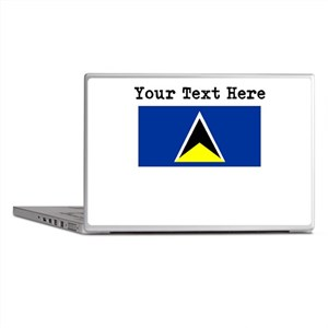 Custom St Lucia Flag Laptop Skins