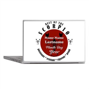 Custom Text Scorpio Horoscope Zodiac Sign Laptop S