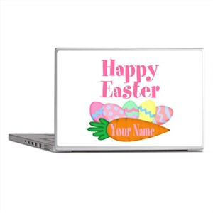Happy Easter Carrot and Eggs Laptop Skins