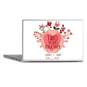 Personalized Gift for 2nd Anniversary Laptop Skins