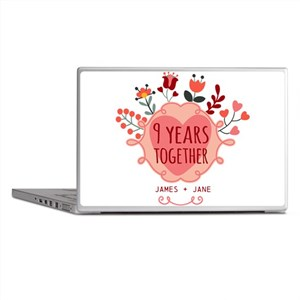 Personalized 9th Anniversary Laptop Skins
