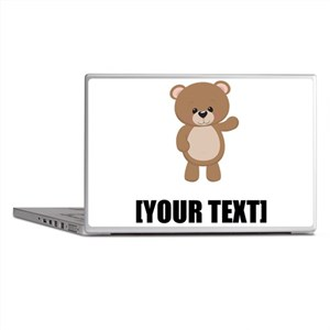 Teddy Bear Waving Personalize It! Laptop Skins