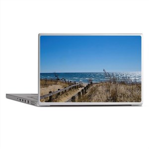 Beach walkway Laptop Skins