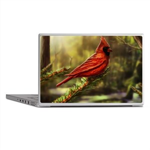 cardinal bird Laptop Skins
