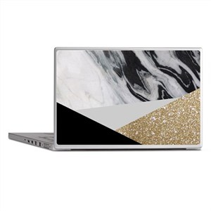 Black And Gold Laptop Skins - CafePress