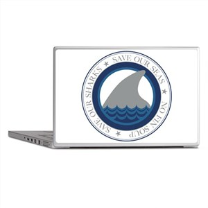 save our sharks Laptop Skins