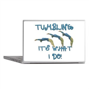 Tumbling Gymnast Laptop Skins