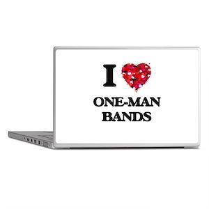 I love One-Man Bands Laptop Skins