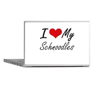 I Love My Schnoodles Laptop Skins
