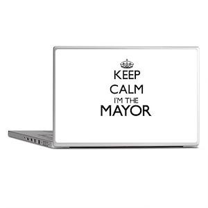 Keep calm I'm the Mayor Laptop Skins