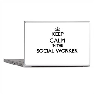 Keep calm I'm the Social Worker Laptop Skins