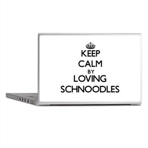 Keep calm by loving Schnoodles Laptop Skins