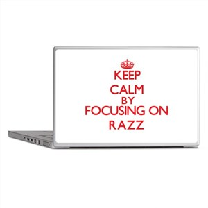 Keep Calm by focusing on Razz Laptop Skins