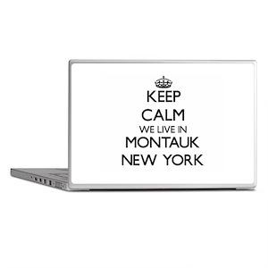 Keep calm we live in Montauk New York Laptop Skins