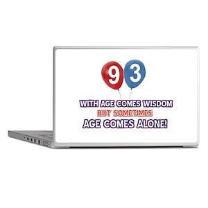 Funny 93 wisdom saying birthday Laptop Skins