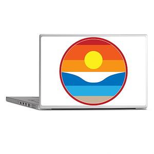 Horizon Sunset Illustration with Cras Laptop Skins