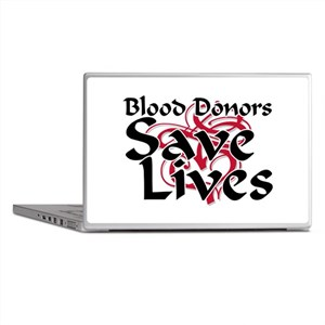 Blood Donors Save Lives Laptop Skins