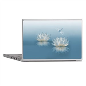 Blue Lotus and Dragonfly Laptop Skins