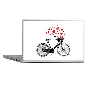 Vintage Bike with Hearts Laptop Skins