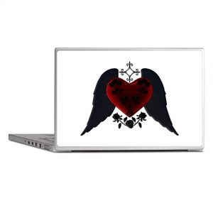 Black Winged Goth Heart Laptop Skins