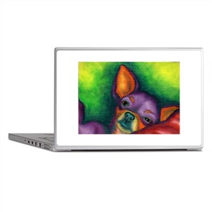 Lazy Chihuahua Laptop Skins
