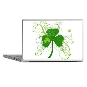 St Paddys Day Fancy Shamrock Laptop Skins