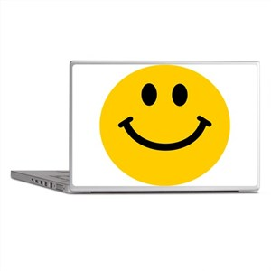 Yellow Smiley Face Laptop Skins