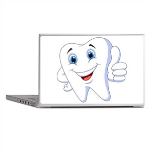 Amusing smiling tooth design Laptop Skins