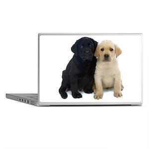 Black and White Labrador Puppies. Laptop Skins
