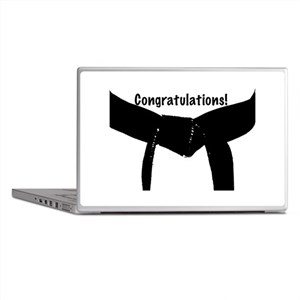 Black Belt Congrats Laptop Skins
