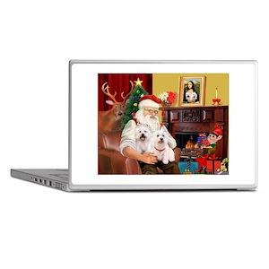 Santa's Westie pair Laptop Skins