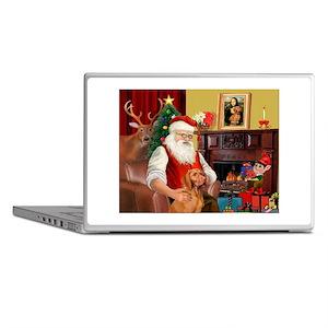 Santa's Vizsla Laptop Skins