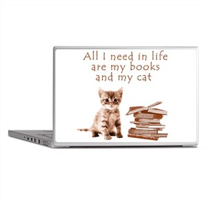 Cats and books Laptop Skins