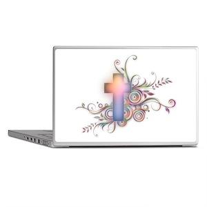 Swirls N Cross Laptop Skins