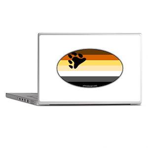 Oval Bear Pride Flag Laptop Skins