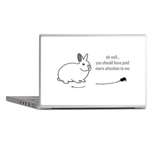 oh well... (bunnies chew cabl Laptop Skins