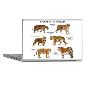 Tigers of the World Laptop Skins