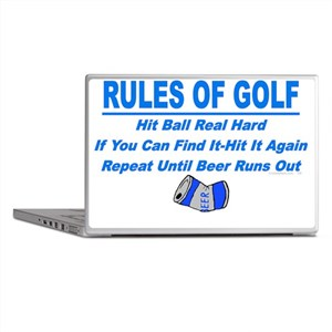 Rules Of Golf Laptop Skins