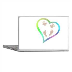 Baby Hands and Feet in Heart Laptop Skins