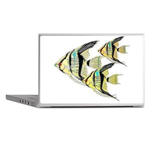Three Yellow Tribal Angel Fish Laptop Skins