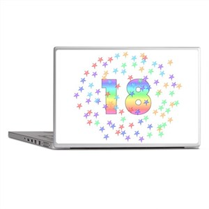 18th Birthday Pastel Stars Laptop Skins