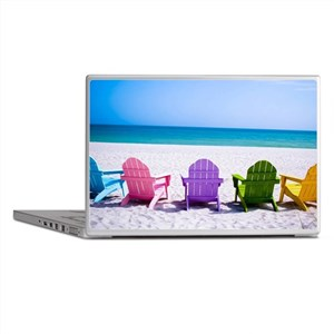 Lounge Chairs On Beach Laptop Skins
