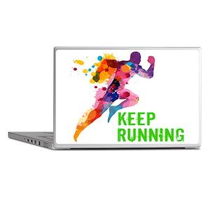 Keep Running Laptop Skins