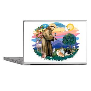 St.Francis #2/ Pomeranian(3) Laptop Skins